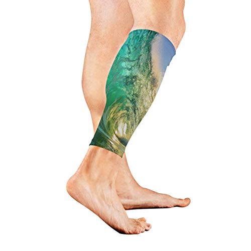 Beinmanschette Beaches Clear Green Crystal Calf Sleeves 1 Pair For Running Cycling Travel -