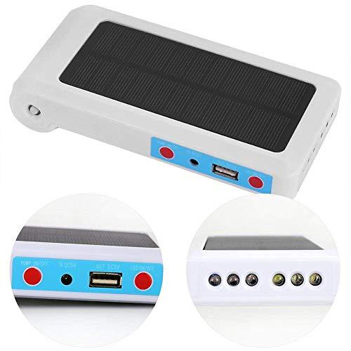 Ejoyous Tragbare Solar Luftpumpe Wasserdicht USB Oxygenator Belüfter für Aquarium Meer Angeln Gartenteich Belüftung Sauerstoffpumpe Teich Luftpumpe Teichpumpe