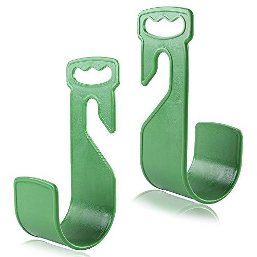 Warooma Gartenschlauchhalter, strapazierfähig, langlebig, grün, Wandhalterung, Aufhänger, Robuste Bewässerung, Schlauch-Haken, rostfreier ABS-Haken, passend für 15 m / 30 m Wasserschlauch, 2 Stück