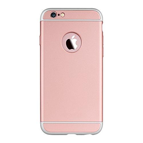 Oats Coque pour Apple iPhone 6 / 6s Etui panoramique Housse de Protection Case Cover Bumper - Noir Rosé or