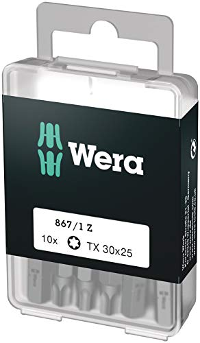 Wera Bit-Sortiment, 867/1 TX 30 DIY, TX 30 x 25 mm (10 Bits pro Box), 05072411001