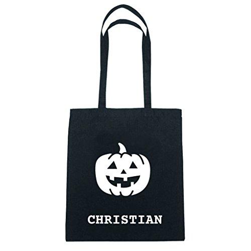 JOllify Baumwolltasche Halloween für CHRISTIAN - Kürbis