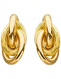417c6b44ceb So Chic Bijoux © Boucles d Oreilles Noeud Antillais 4 mm Or Jaune 750