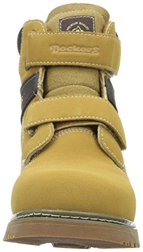 Dockers by Gerli 27am702-636910, Bottes courtes avec doublure chaude mixte enfant Jaune - Gelb (GOLDEN Tan 910)