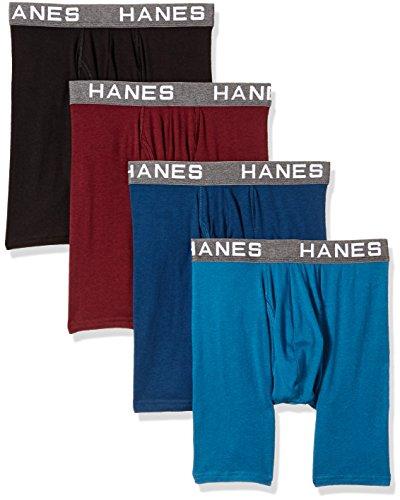 Hanes Ultimate Herren Comfort Flex Fit Ultra Soft Cotton Modal Blend Boxer Brief 4-Pack Slip, Sortiert, X-Large (erPack 4 - Unterwäsche Hanes Herren Für