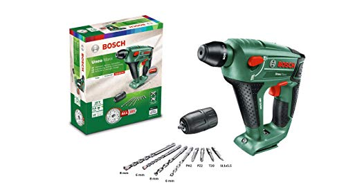 Bosch Akku Bohrhammer UneoMaxx mit Rundschaftadapter (ohne Akku, 18 Volt System, im Karton)