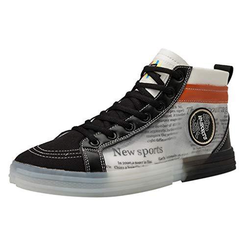 FiveFeedback Uomo Scarpe da Skateboard Sportive Corsa Sneakers Ginnastica Outdoor Multisport Shoes Scarpe Casual da Uomo in Tela Traspirante in Tinta Unita con Suola in Cristallo Scarpe Casual