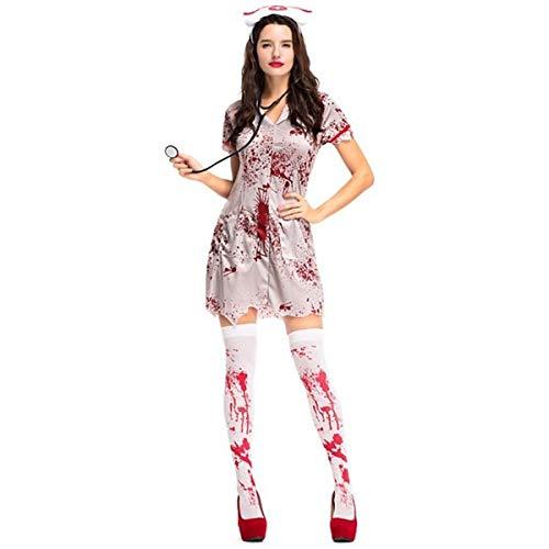 Blood-spattered Nurse Fancy Dress Costume- One ()