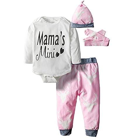 Big Elephant 3 Stück Baby Mädchen Body Lange Ärmel Top Pants Kleidung SET 29 Gr. 18-24 Monate, mehrfarbig