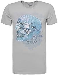 Stitch & Soul Herren Basic T-Shirt mit Sommer Print | Straight Fit Jersey Shirt mit Rundhals-Ausschnitt