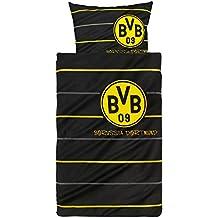 BVB / Borussia Dortmund Linon Bettwäsche Polostreifen Übergröße