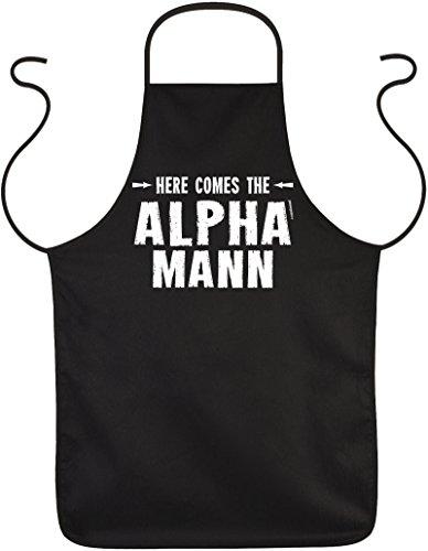 Mega lustige Geschenksidee für den Mann - Kochschürze Küchenschürze Geschenksidee - Alpha Mann - Funschürze Partyschürze Vatertag Weihnachten (Alpha-schürze)