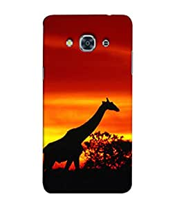 Fuson Designer Back Case Cover for Samsung Galaxy J2 (6) 2016 J210F :: Samsung Galaxy J2 Pro (2016) (Black Animals Giraffe Shadow Sunset)