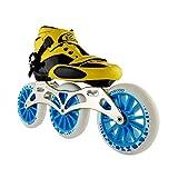 ailj Scarpe Pattinaggio di velocità 3 * 125MM Pattini in Linea Regolabili, Scarpe da Pattinaggio (5 Colori) (Colore : Blu, Dimensioni : EU 42/US 9/UK 8/JP 26cm)