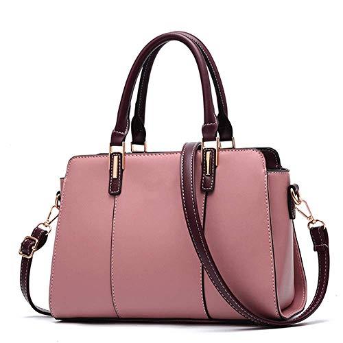 MLpus Bolso de Estilo Americano Bolso Mensajero Hombro Lugar de Trabajo Estereotipos Paquete Bolso para Mujer (Color : Pink)