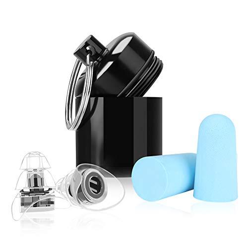 Gehörschutz Ohrstöpsel, Winzwon Ohrstöpsel arbeiten Resusable Sleepingpro Ohrstöpsel für Musik, Konzert, Disco und Festival 2pack Earplugs mit Alubehälter