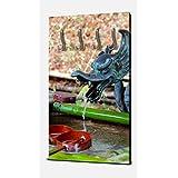 wandmotiv24 Fuente en el jardín del Templo japonés Wandgarderobe M0812 Armario Retrato - 55x100 (W