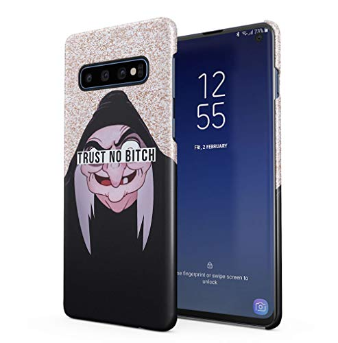 Maceste Cartoon Witch Trust No Bitch Kompatibel mit Samsung Galaxy S10 SnapOn Hard Plastic Phone Protective Fall Handyhülle Case Cover Fall Hard Case