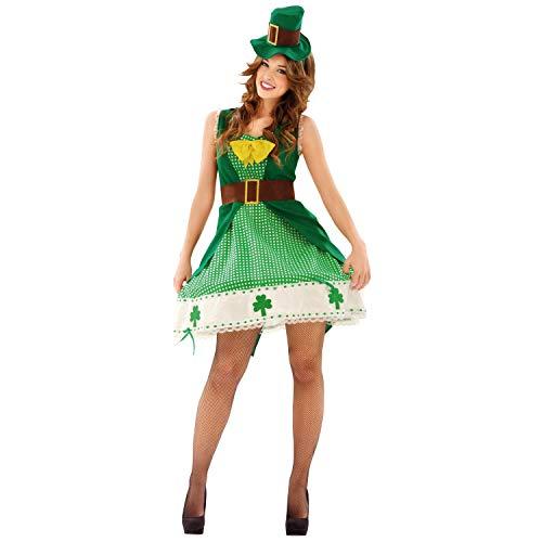 Irische Kostüm - My Other Me-Irische Kostüm für Damen, M-L (viving Costumes 201099)