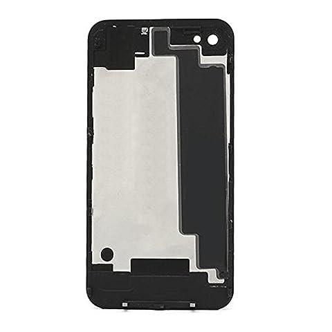Vitre Arrière Noir Sur Châssis Cache Batterie Pour iPhone 4S