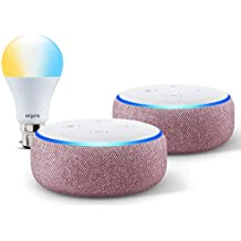 Echo Dot gift twin pack (Purple) with Wipro smart white bulb