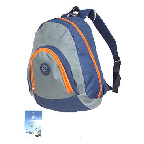 Friedndz Trendz-Carry -Elegante viaggio triangolare bagagli Daypack zaino Bagpack (black/grey) navy/grey