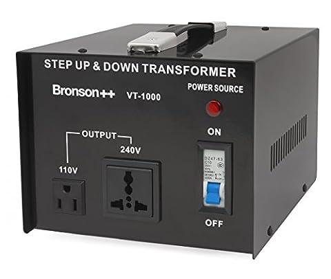 Bronson++ VT 1000 Watt Transformateur / USA 110 Volt Converter / Convertisseur de tension 110 /120 V - 220 / 240 V réversible 1000W - Bronson