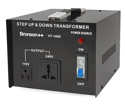 Bronson++ VT 1000 - 110 Volt Step Up / Down - Spannungswandler / Transformator / Konverter - Bronson 1000 Watt 110V - Transformer Power