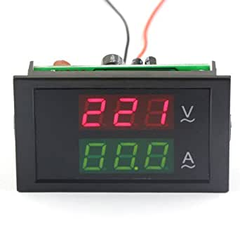 DROK® AC 200-450V/100A Digitale Voltmetro Amperometro 2in1 3 Phase 380 Volts + Resistor Sensore Corrente