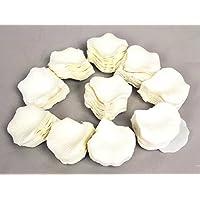 1000Uds. Pétalos de Rosa en Seda Blanco para Decoración Bodas Fiestas Confeti