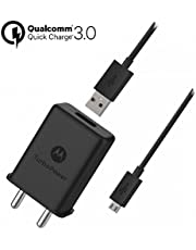 Motorola TurboPower 15+ Wall Charger with Micro-USB Data Cable