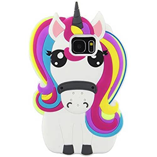 unicornios kawaii eHenZ® TM carcasa diseño unicornio 3D, funda carcasa para iPad 2,3,4; iPhone 7,7+, 6,6+, 5... Arco iris Cute Samsung 7