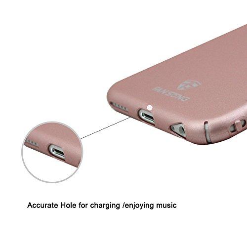 iPhone 6/6S Cover + Phone Anello Grip, Fan Song Ultra Slim antigraffio antiurto Hard PC Case per Apple Iphone 6/6S 4.7con 360gradi di rotazione Glitzer supporto (Nero) Rose Gold