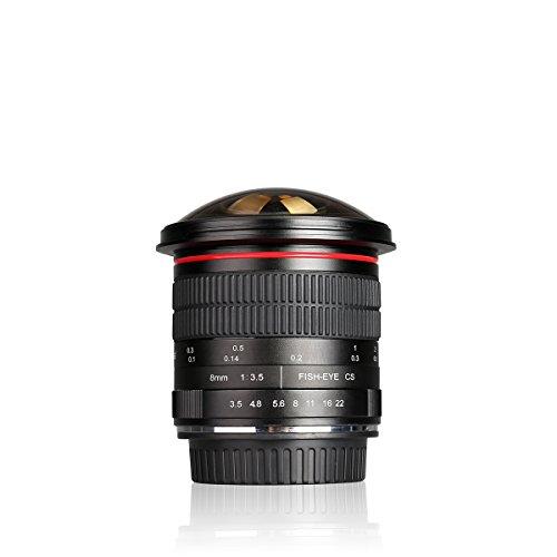 fisheye nikon Meike MK 8 mm f/3,5 Ultra HD Diagonal Fisheye-Objektiv Manueller Fokus Prime Objektiv für Sony E-Mount spiegellose Kamera mit APS-C … (Nikon Fmount)