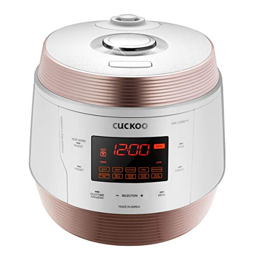 CUCKOO CMC-QSB501S 8 in 1 Dampfdruck MultiKocher Schnellkochtopf Schongarer Reiskocher aus rostfreiem Edelstahl