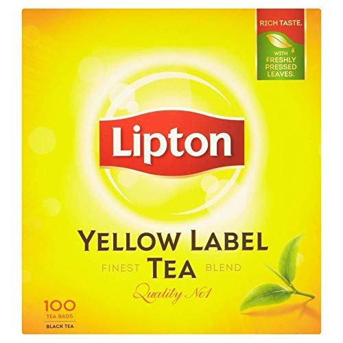 Lipton Yellow Label Tea Quality No. 1 92 Teebeutel Schwarzer Tee - Lipton Tee-orange