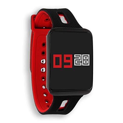 KETO dark fire | Fitness Tracker Damen und Herren - Armband mit Pulsmesser - Sport Smartwatch zum Schwimmen und Laufen