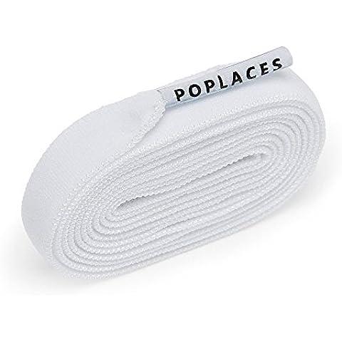 Poplaces, cordones de zapatos que solo se atan una vez de Popband. 90 cm x 9 mm