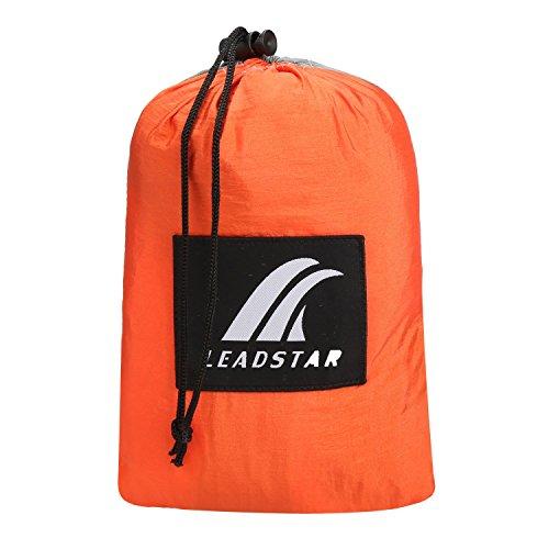 LEADSTAR 300×200 cm Mehrpersonen Nylon Hängematte Ultraleicht Tragbar Belastbarkeit bis 300kg – Orange - 4