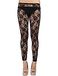 N-Gal Women's Legging (NY2022_Metallic Black_Free Size)