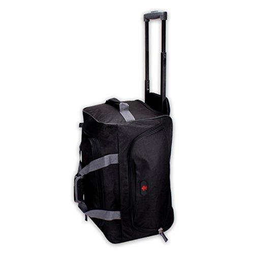 """Reisetrolley Modell """"BlackTravel-S"""" 52cm Koffer Rolltasche Sporttasche 40l (schwarz/grau)"""