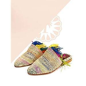kechart: schoenen Marokkaanse raffia voor dames