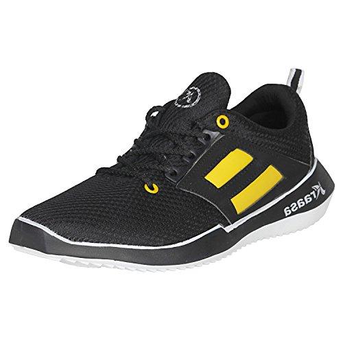 Kraasa 7026 Premium Running Sports Shoes Black UK 7