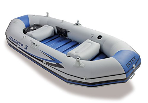 Intex 68373NP Mariner 3 Schlauchboot Set (für 3 Personen / bis 300kg, 2 Paddel)