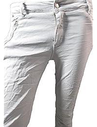 Italy Damen Jogg Skinny Jeggings Stretch Hose mit Reißverschlusstaschen in sechs farben
