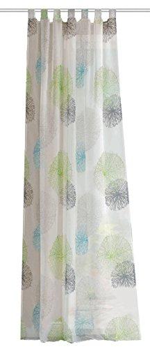 Home fashion 49039-568 Schlaufenschal, Voile, 245 x 140 cm, grün