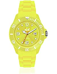 Ice-Watch Unisex-Armbanduhr Medium Big Sili Forever gelb SI.EV.U.S.10