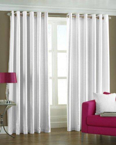 PINDIA Eyelet Polyester Window Curtain - 5ft, White