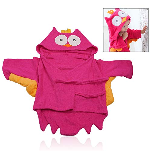 Baby Bademantel,Baumwolle Kapuzenhandtuch Bademantel Babyhandtuch für Baby Mädchen Junge ()