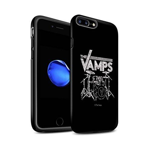 Officiel The Vamps Coque / Matte Robuste Antichoc Etui pour Apple iPhone 7 Plus / Bleu V Design / The Vamps Graffiti Logo Groupe Collection Batterie